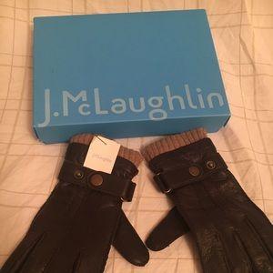 J McLaughlin Leather Gloves